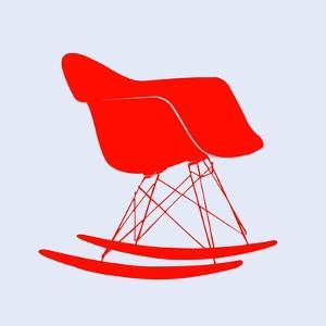 Eames Rocking Chair Red by Anita Nilsson