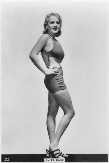 Anita Page, American Film Actress, C1938--Giclee Print