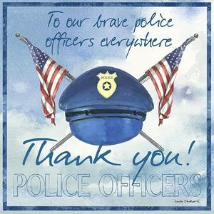 Thank You Police Officers Sq. by Anita Phillips