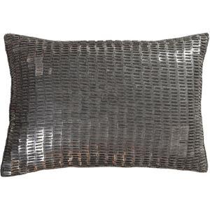 Ankara Pillow Cover - Pewter