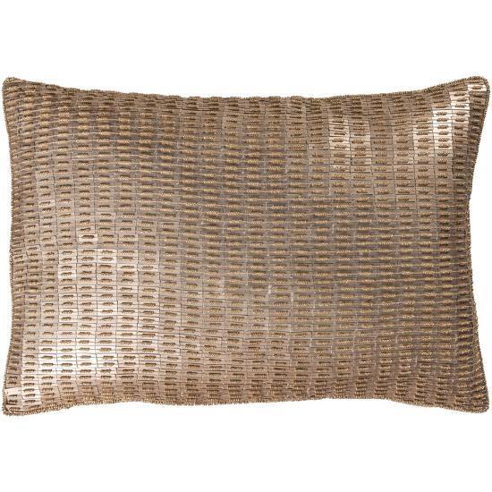 Ankara Poly Fill Pillow - Champagne--Home Accessories