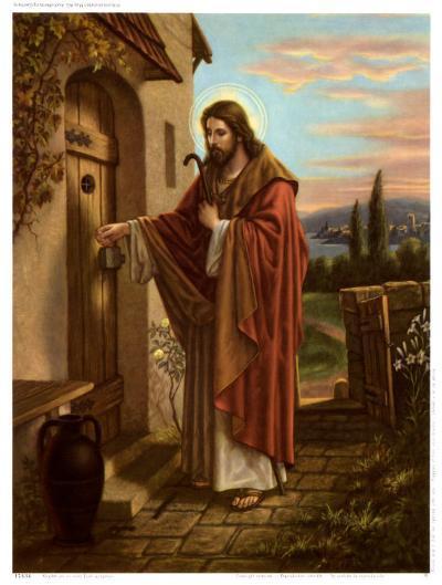 Anklopfender Christus--Art Print