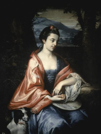 Ann Allen, Later Mrs John Penn, August 1763-Benjamin West-Giclee Print