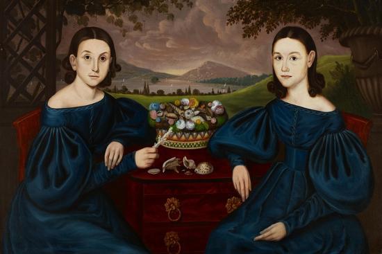 Ann and Eliza Dusenberry, 1838-Orlando Hand Bears-Giclee Print