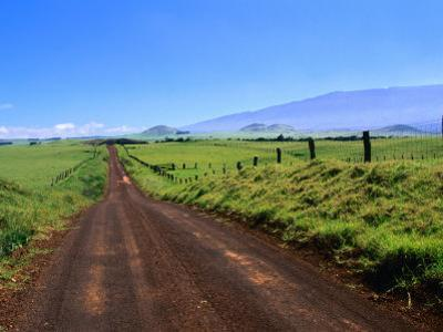 A View of Mauna Kea from the Road Leading Through Parker Ranch, Waimea, Hawaii, USA