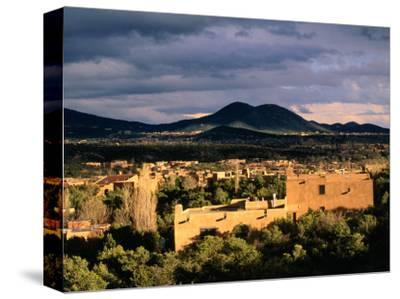 Buildings with Mountain in Distance, Santa Fe, U.S.A.