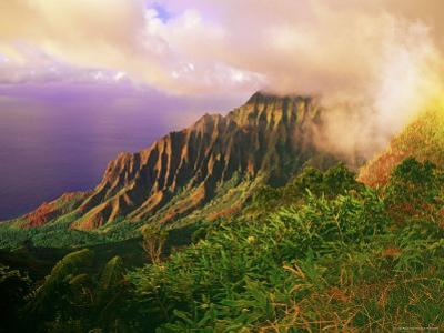 Kalalau Valley, Part of the Na Pali Coast from Lookout in Kokee