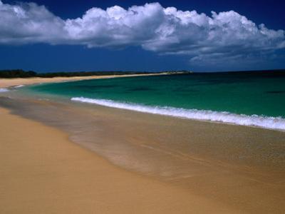 Popohaku Beach is the Longest Beach on Molokai's West End, Molokai, Hawaii, USA