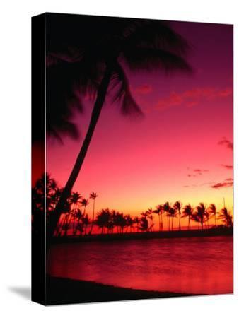 Sunset at Anaehoomalu on the Kohala Coast, Waikoloa, Hawaii (Big Island), Hawaii, USA