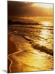 Sunset at the Beach on the North Shore, Pupukea Beach Park, Oahu, Hawaii, USA by Ann Cecil