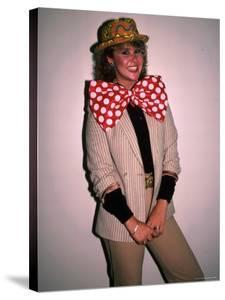 Actress Linda Blair, Wearing over Sized Bow Tie by Ann Clifford