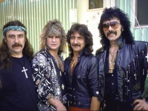Ozzy Osbourne and Members of Heavy Metal Rock Group, Black Sabbath by Ann Clifford