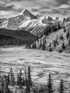 Canada, Alberta, Banff National Park. Survey Peak and North Saskatchewan River by Ann Collins
