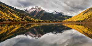 Colorado, Crystal Lake, Panoramic View of Red Mountain Number 1 and Red Mountain Number 3 Near Oura by Ann Collins