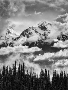 Olympic National Park, Mount Carrie and Carrie Glacier Through the Clouds from Hurricane Ridge by Ann Collins