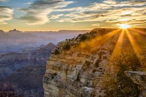 USA, Arizona, Grand Canyon National Park, Sunrise over Powell Point by Ann Collins