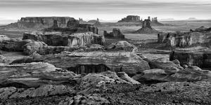 USA, Arizona, Monument Valley. Panoramic View from Hunt's Mesa at Dawn by Ann Collins