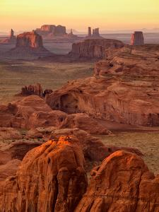 USA, Arizona, Monument Valley, Sunset View from Hunt's Mesa by Ann Collins
