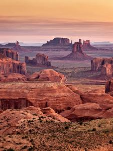 USA, Arizona, Monument Valley, View from Hunt's Mesa at Dawn by Ann Collins