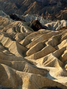 USA, California, Death Valley National Park. Erosion at Work Near Zabriskie Point by Ann Collins