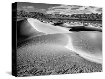 USA, California, Death Valley National Park, Morning Sun Hits Mesquite Flat Dunes