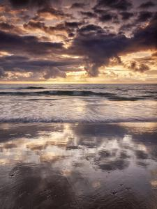 USA, California, La Jolla, Cloud reflections at La Jolla Shores by Ann Collins