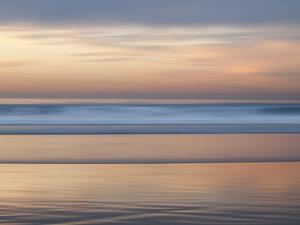USA, California, La Jolla. Ocean abstract at La Jolla Shores beach by Ann Collins