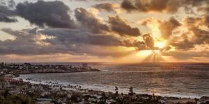 USA, California, La Jolla, Panoramic View of La Jolla Shores and the Village at Sunset by Ann Collins