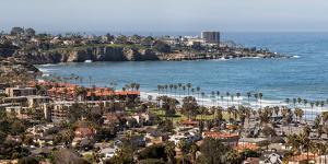 USA, California, La Jolla, Panoramic view of La Jolla Shores by Ann Collins