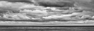 USA, California, San Diego, Panoramic Black-And-White View of Clouds over Pacific Ocean by Ann Collins