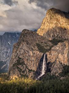 USA, California, Yosemite National Park, Bridalveil Falls at sunset by Ann Collins