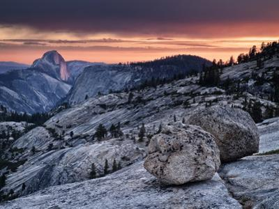 USA, California, Yosemite National Park. Sunset Light on Half Dome from Olmsted Point