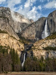 USA, California, Yosemite National Park. Upper and Lower Yosemite Falls at Sunrise by Ann Collins