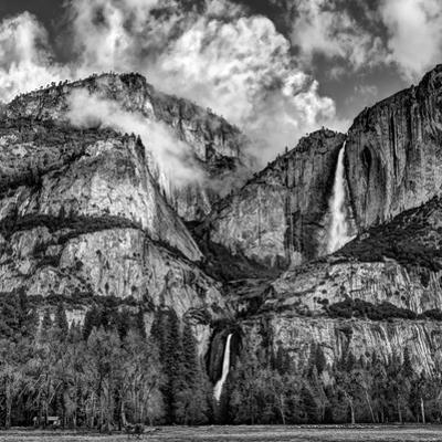 USA, California, Yosemite National Park, Upper and Lower Yosemite Falls at Sunrise by Ann Collins