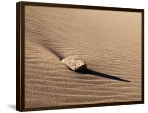 USA, Colorado, Great Sand Dunes National Park and Preserve. Rock and Ripples on a Dune by Ann Collins