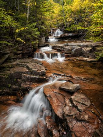 USA, New Hampshire, White Mountains, Vertical panorama of Coliseum Falls by Ann Collins