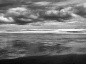 USA, Oregon, Cannon Beach, Storm Clouds Roil over the Pacific Ocean by Ann Collins