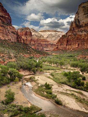 USA, Utah, Zion National Park. View Along the Virgin River