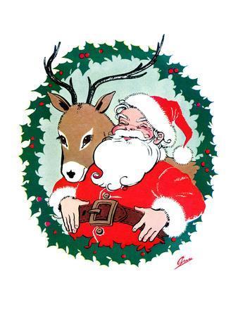 Santa & Reindeer - Jack and Jill, December 1956
