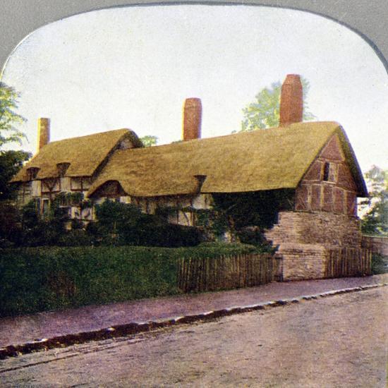Ann Hathaway's cottage, Stratford-upon-Avon, Warwickshire, early 20th century. Artist: Unknown-Unknown-Giclee Print