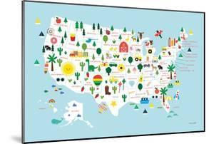 Fun USA Map by Ann Kelle