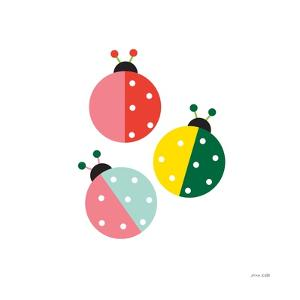 Ladybugs Three by Ann Kelle