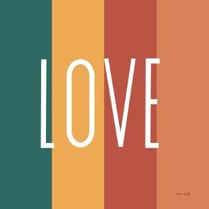 Love Rainbow Retro by Ann Kelle