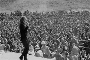 Ann Margret Entertains Thousands of Troops in Danang, Vietnam, Winter 1968-69