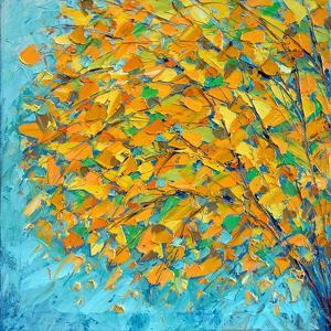 Autumn On Teal by Ann Marie Coolick