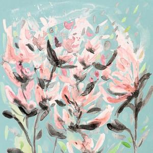 Wild Flowers on Teal by Ann Marie Coolick