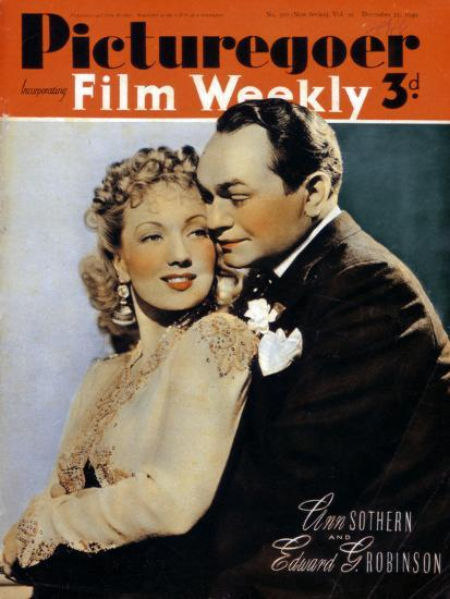 Ann Sothern (1909-2001) and Edward G. Robinson ( 1893-1964), actors, 1940. Artist: Unknown-Unknown-Photographic Print