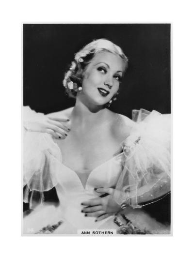 Ann Sothern, American Film and Television Actress, C1938--Giclee Print