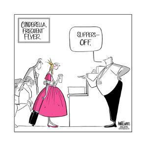 Cinderella Frequent Flyer. by Ann Telnaes