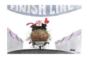 Finish Line. Agenda. by Ann Telnaes